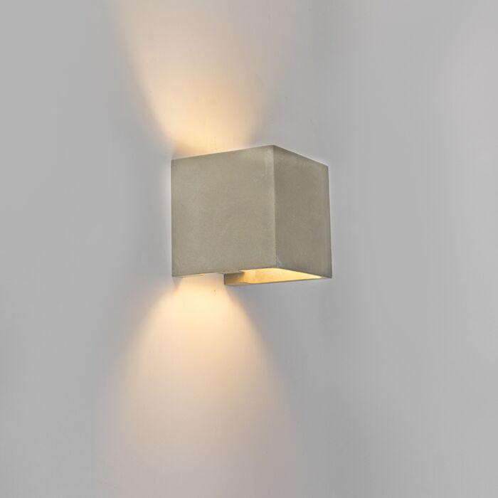 Aplique-rústico-cuadrado-hormigón-IP54-LED---ALBAN