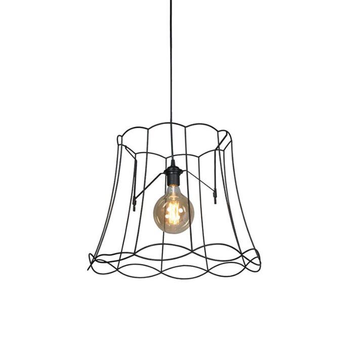 Lámpara-colgante-retro-negra-50-cm---GRANNY-Frame