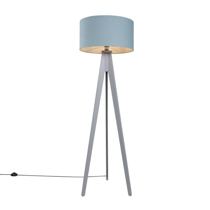 Lámpara-de-pie-TRIPOD-Classic-gris-con-pantalla-50cm-gris-piedra