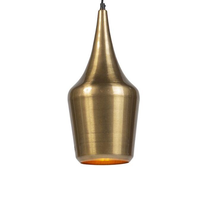 Lámpara-colgante-vintage-redonda-dorada---DUKE-E