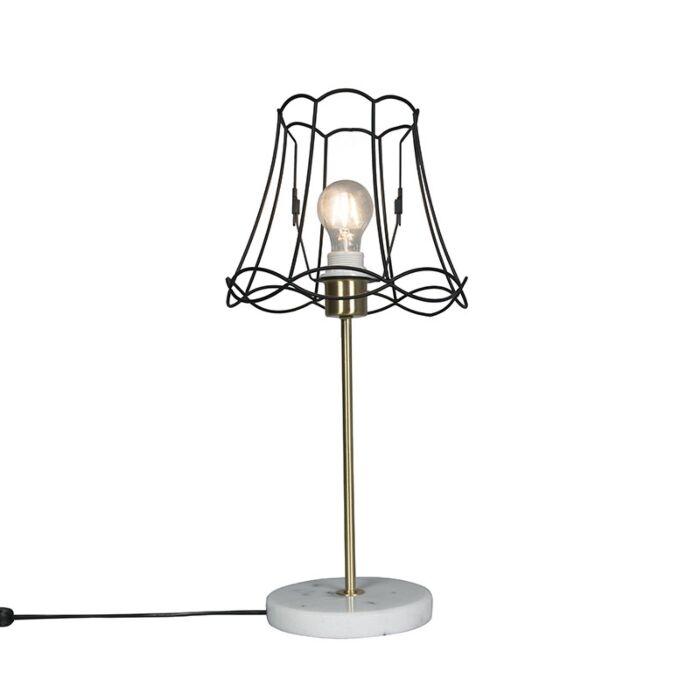 Lámpara-de-mesa-retro-latón-GRANNY-Frame-negro-25cm---KASO