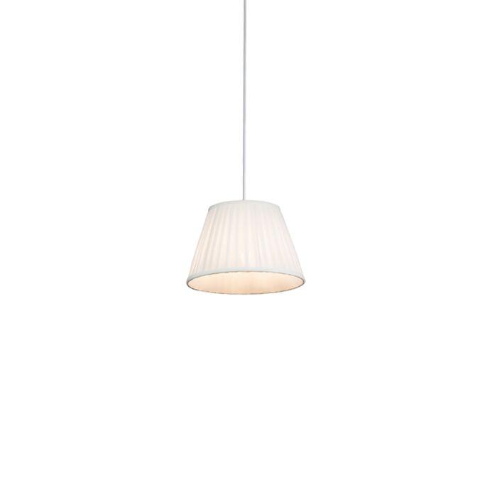 Lámpara-colgante-retro-crema-25-cm---PLISSE