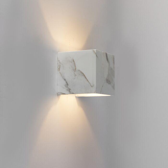 Aplique-moderno-cuadrado-mármol-blanco---ALBAN