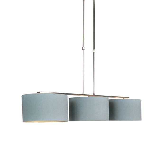 Lámpara-colgante-acero-pantalla-35cm-gris-mineral---COMBI-3-Deluxe