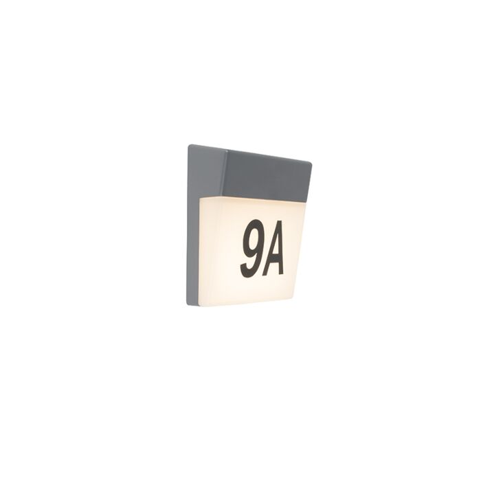 Aplique-gris-pegatinas-núm-IP54---NUMBERS