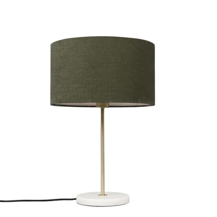 Lámpara-de-mesa-de-latón-con-pantalla-verde-35-cm---Kaso