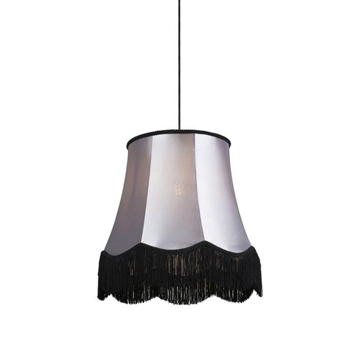 Lámpara-colgante-retro-negra-con-gris-45cm---GRANNY