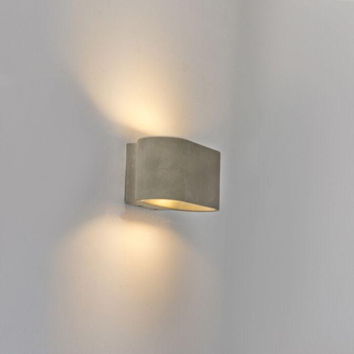 Aplique-rústico-ovalado-hormigón-IP54-LED---ARLES