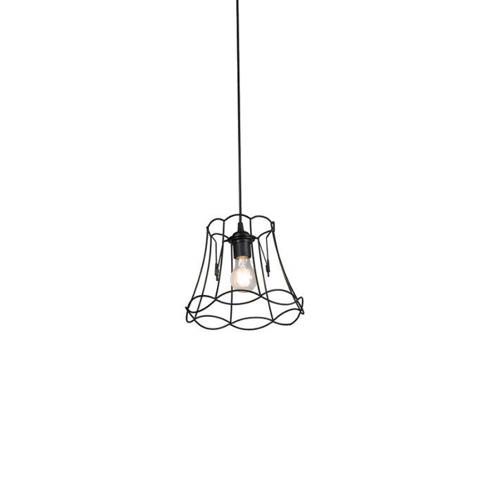 Lámpara-colgante-retro-negra-25-cm---GRANNY-Frame