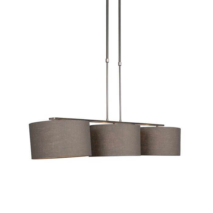 Lámpara-colgante-acero-pantalla-35cm-gris-envejecido---COMBI-3-Deluxe