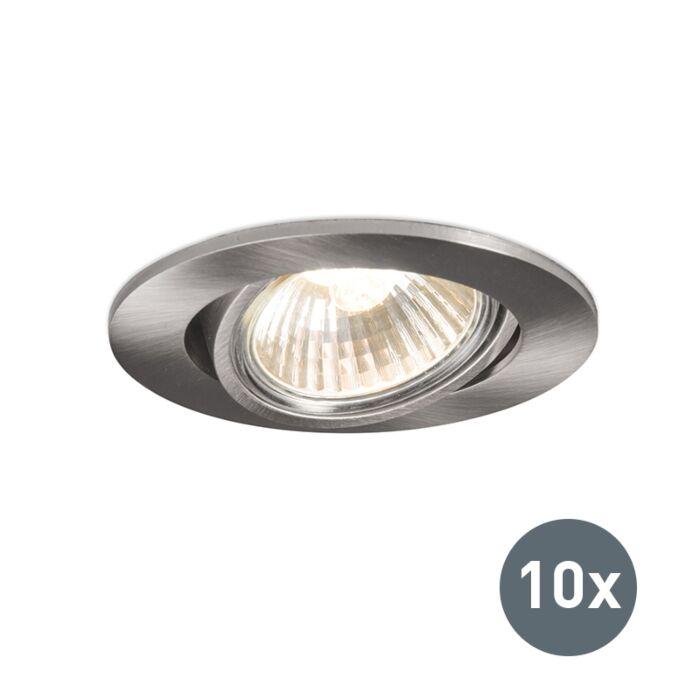 Set-de-10-focos-empotrados-aluminio-orientable---CISCO