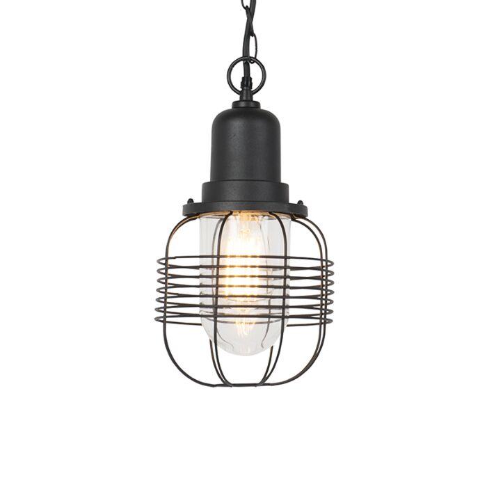 Lámpara-colgante-rústica-negra-IP44---GUARDADO