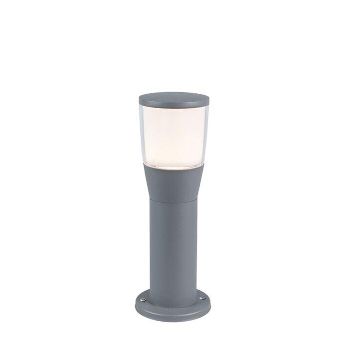 Baliza-moderna-gris-35cm-LED---MONA