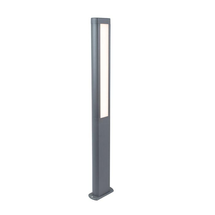 Baliza-moderna-gris-oscuro-100cm-LED---POLO