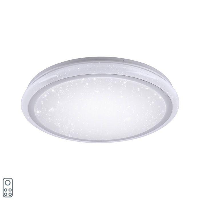 Lámpara-de-techo-moderna-blanca-40cm-LED-RGB---MARS