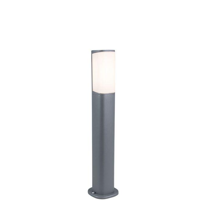 Baliza-moderna-gris-oscuro-50cm-LED---RICO