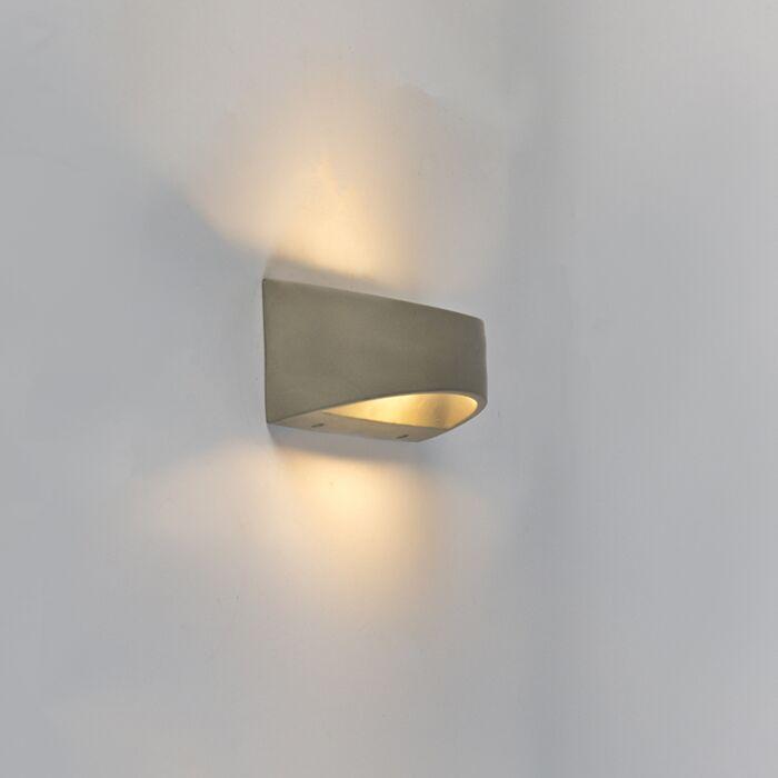 Aplique-rústico-media-esfera-hormigón-IP54-LED---ADELAIDA