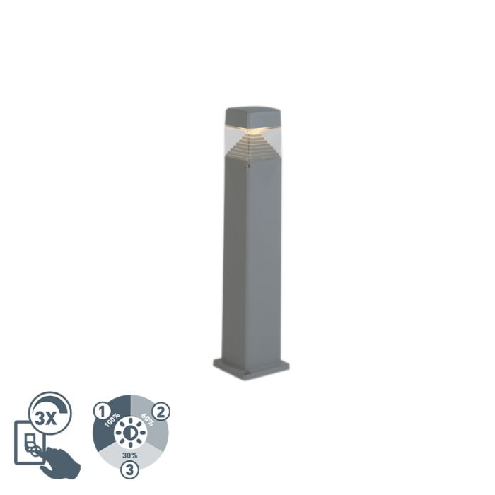 Baliza-moderna-gris-80cm-LED-IP55---ESTER