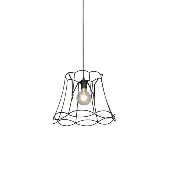 Lámpara-colgante-retro-negra-40-cm---GRANNY-Frame