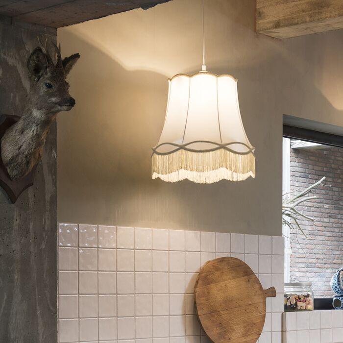 Lámpara-colgante-retro-crema-45cm---GRANNY
