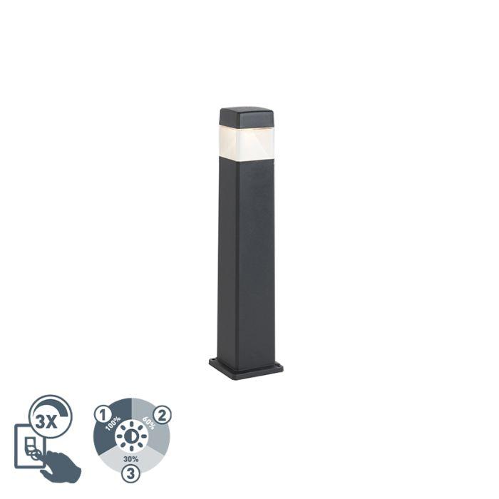 Baliza-moderna-negra-80cm-LED-IP55---ELISA