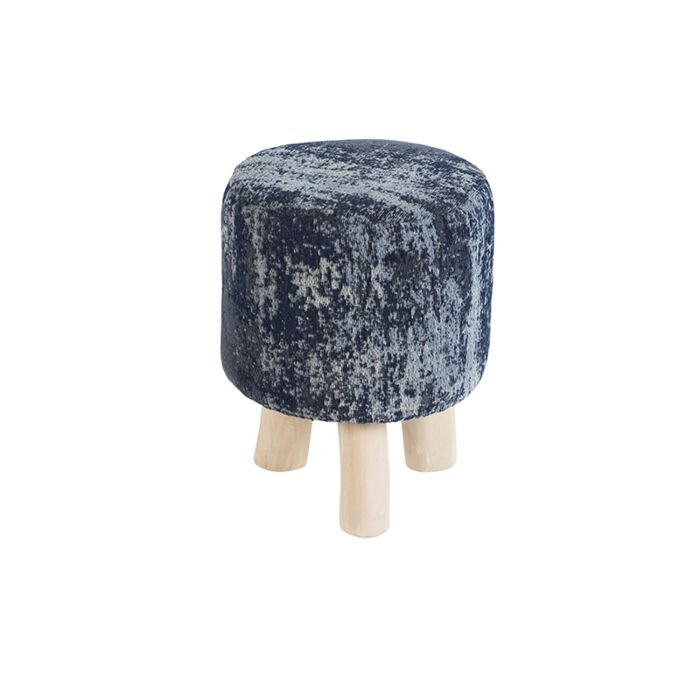 Taburete-redondo-vintage-azul-30-x-30-x-40cm---KOCHI