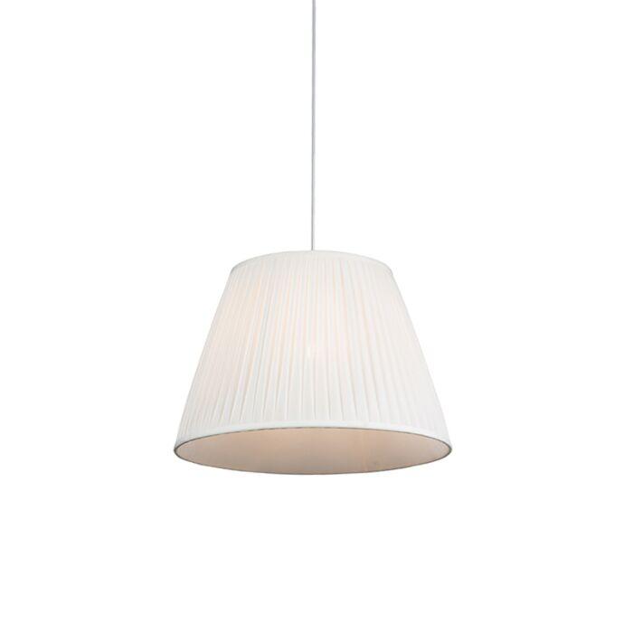 Lámpara-colgante-retro-crema-45-cm---PLISSE