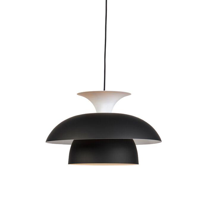 Lámpara-colgante-moderna-redonda-negra/blanco-3-capas---TITUS