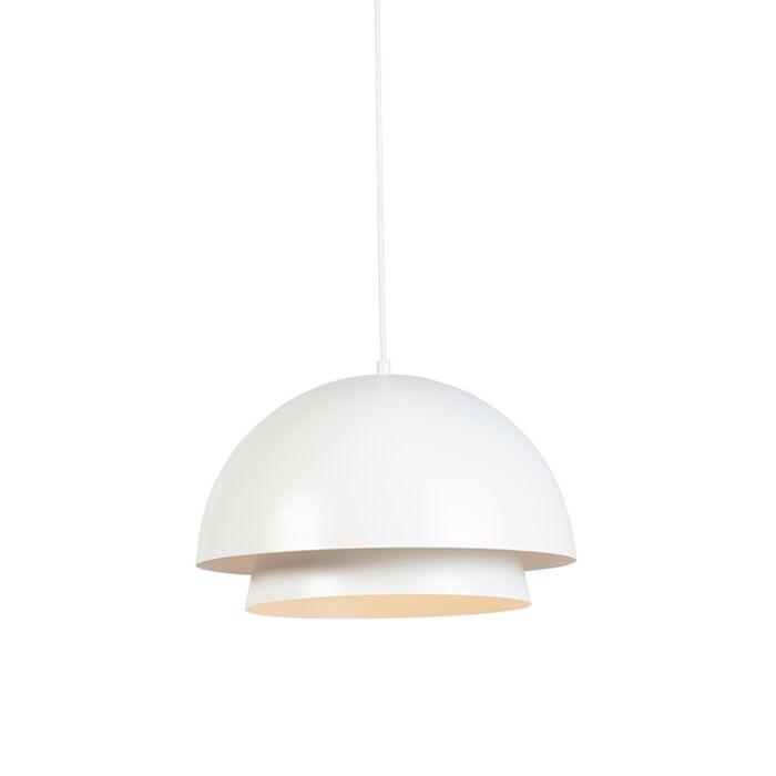 Lámpara-colgante-moderna-redonda-blanca-2-capas---CLAUDIUS