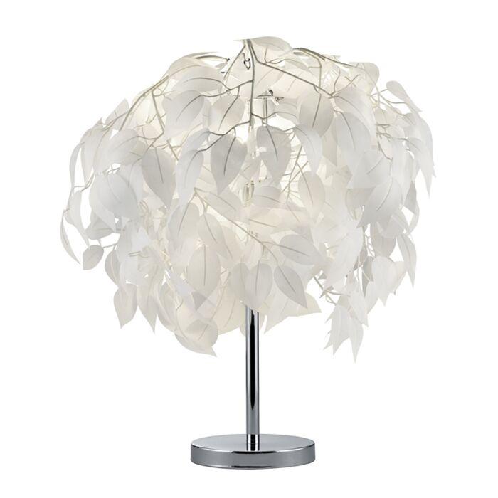 Lámpara-de-mesa-moderna-cromo-blanco---FEDER