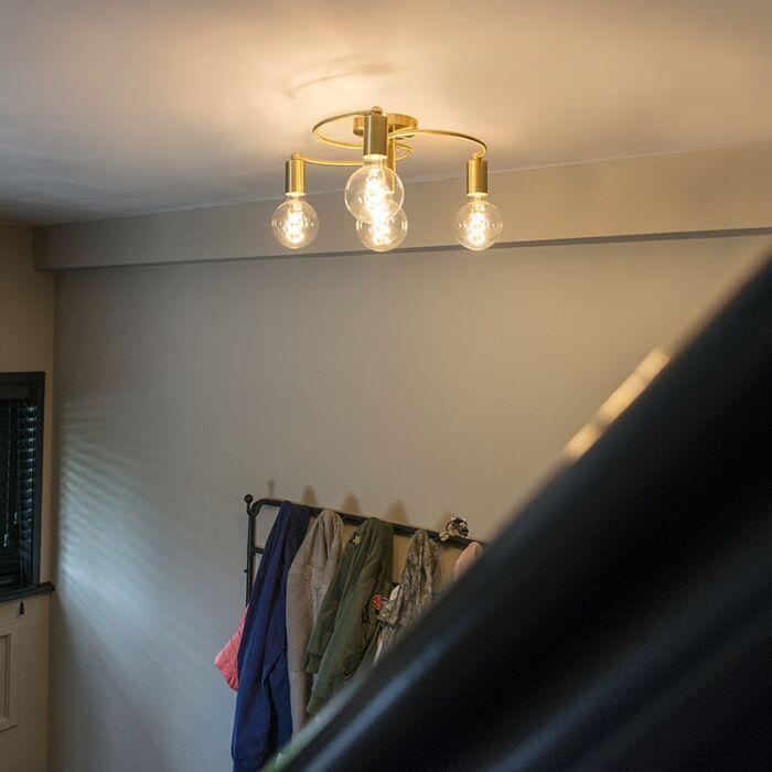 Plafón-Art-Deco-latón-4-luces---FACIL