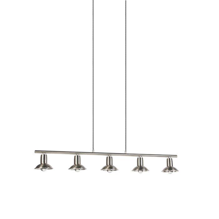 Lámpara-colgante-diseño-plateada-5-luces---AVRIL