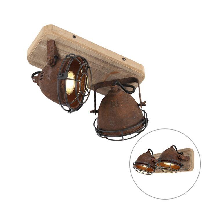 Plafón-industrial-óxido-madera-orientable-2-luces---GINA