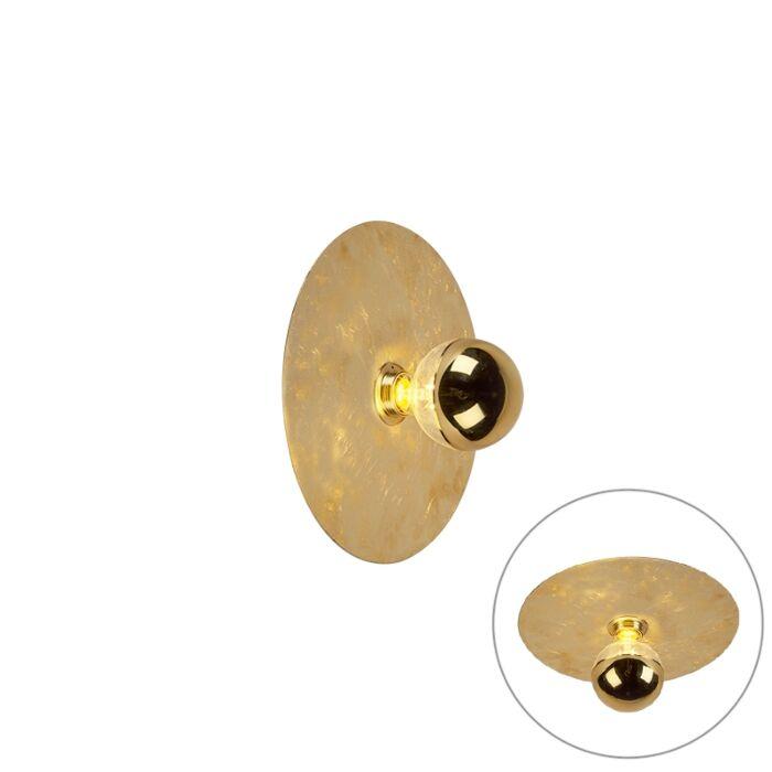 Aplique-moderno-dorado-30cm---DISQUE