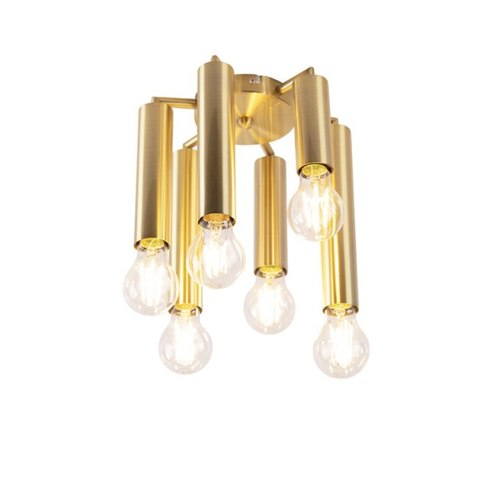 Plafón-Art-Deco-oro-6-luces---FACIL