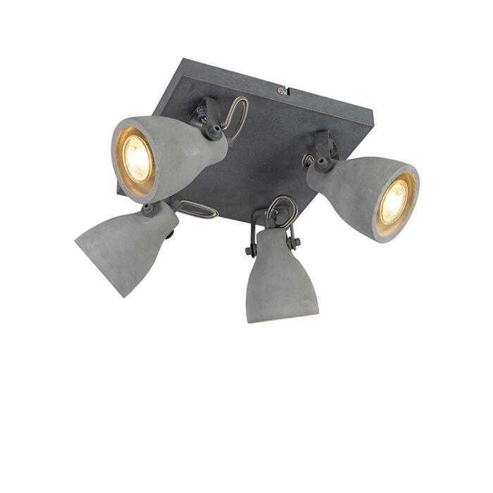 Plafón-industrial-gris-hormigón-4-luces---CRETO