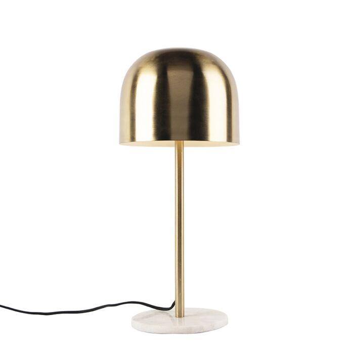 Lámpara-de-mesa-Art-Dèco-dorada-base-de-mármol---SIREN