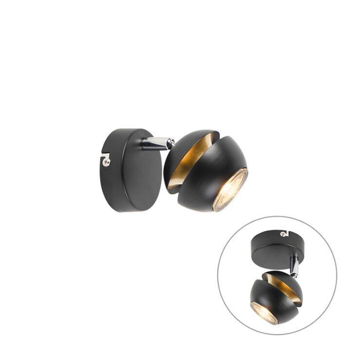 Foco-moderno-negro/oro-1-luz--BUELL-DELUXE