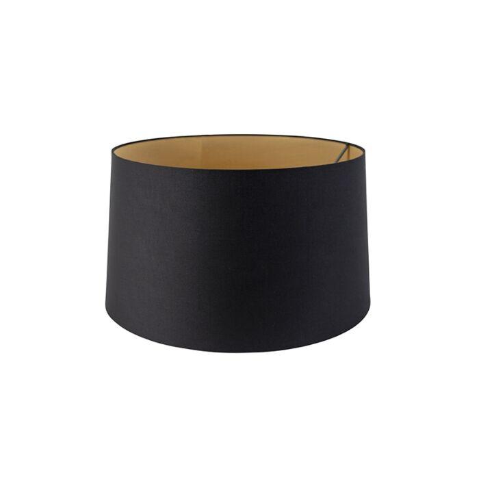 Pantalla-algodón-negro/oro-45/50/28