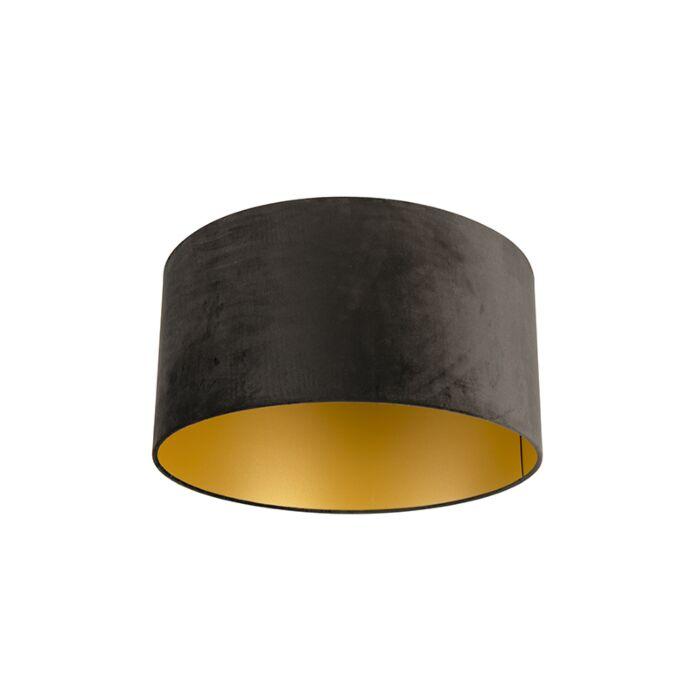 Pantalla-terciopelo-negro/oro-50/50/25