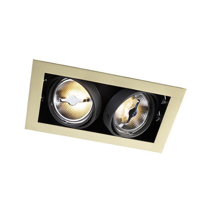 Foco-empotrado-latón-orientable-2-luces---ONEON-111-2