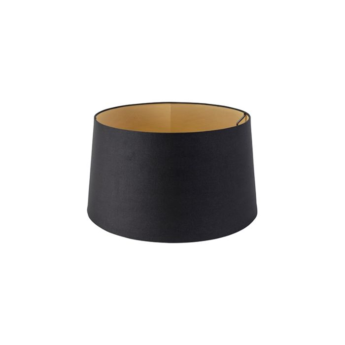 Pantalla-algodón-negro/oro-40/35/22
