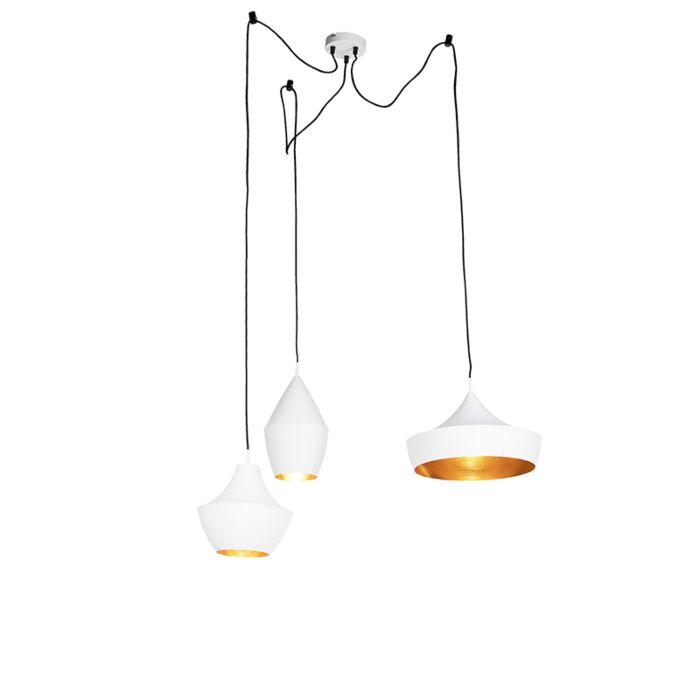 Set-3-lámparas-colgantes-nórdicas-blancas/oro---DEPECHE