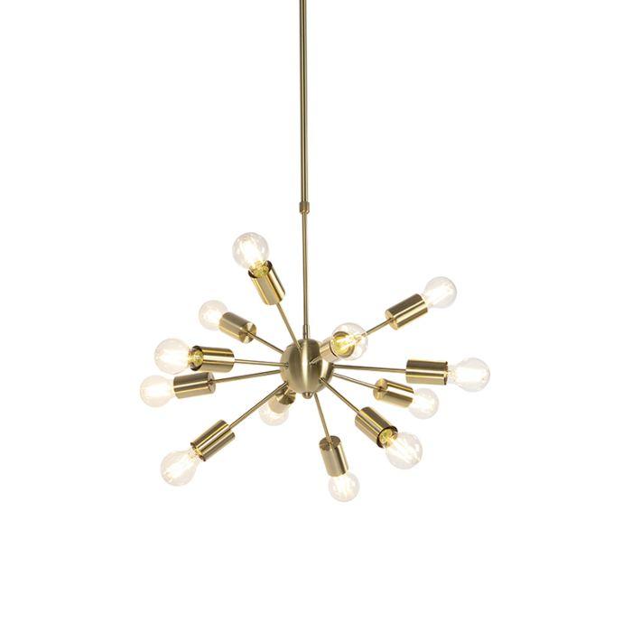 Lámpara-colgante-Art-Deco-dorada-ajustable-60cm-12-luces---FACIL