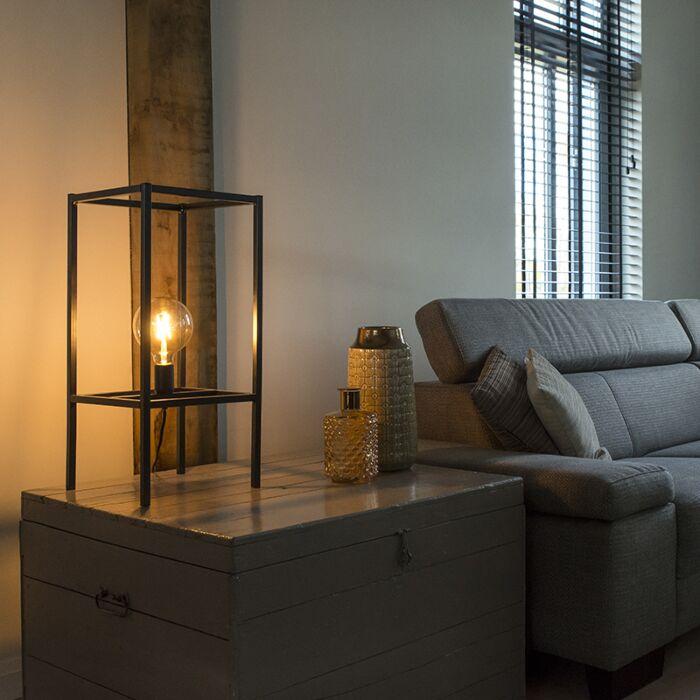 Lámpara-de-mesa-moderna-negra-1-luz---BIG-CAGE