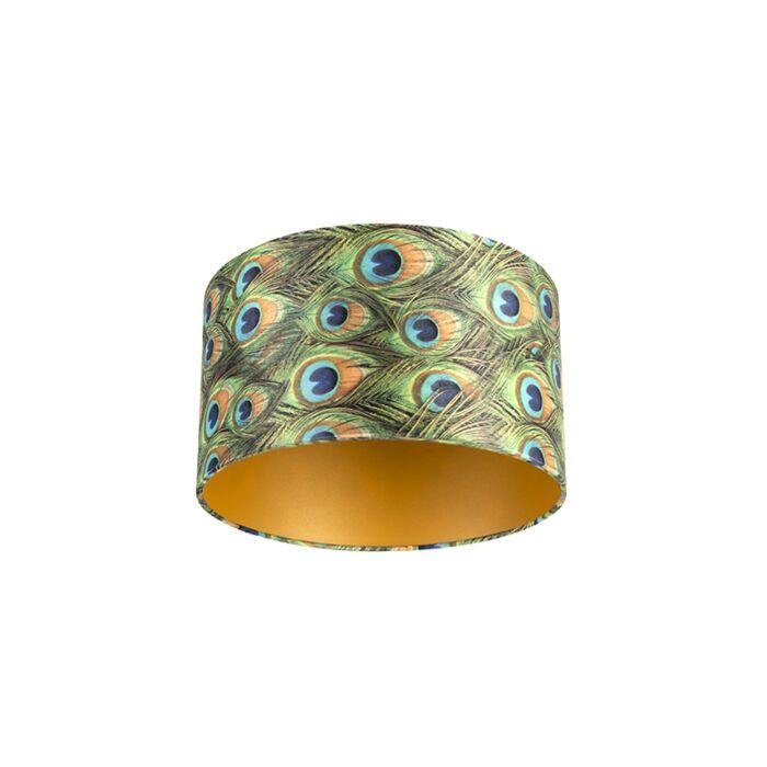 Pantalla-terciopelo-diseño-pavo-real/oro-35/35/20-