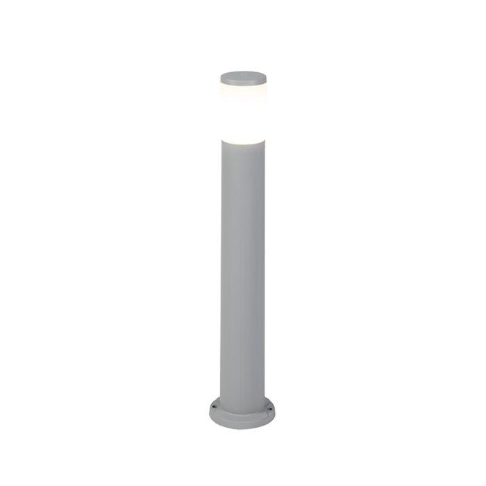 Baliza-moderna-gris-80cm-IP55-1xE27---CARLO