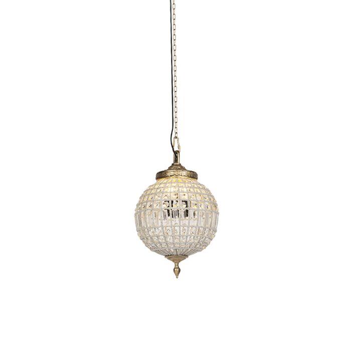 Lámpara-colgante-Art-Deco-cristal-dorado-35cm---KASBAH-