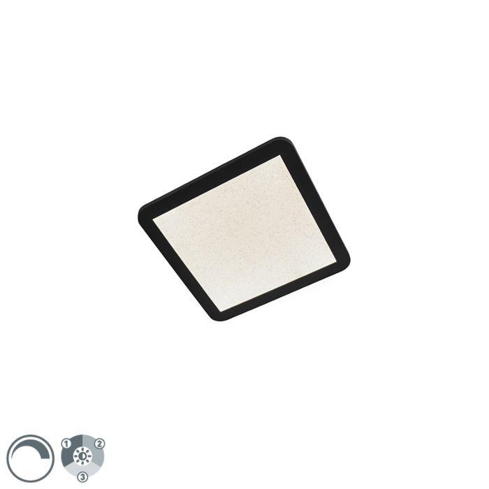 Plafón-negro-regulable-3-pasos-LED-27,6cm-IP44---STEVE