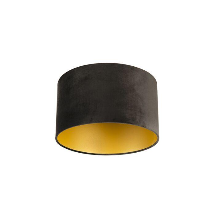 Pantalla-terciopelo-negro/oro-35/35/20-